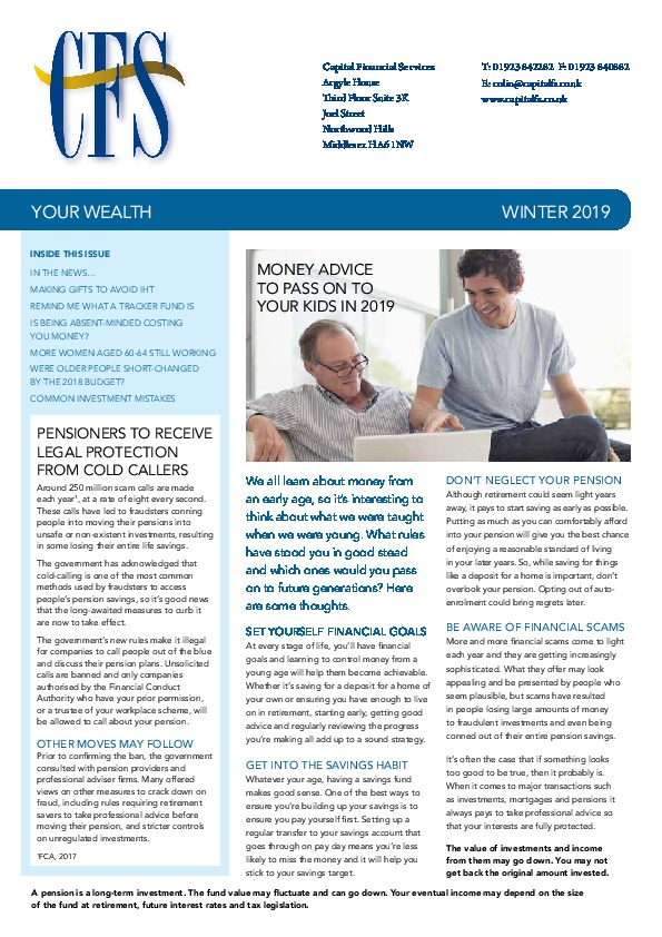 Newsletters - Financial advisers, investment and pensions